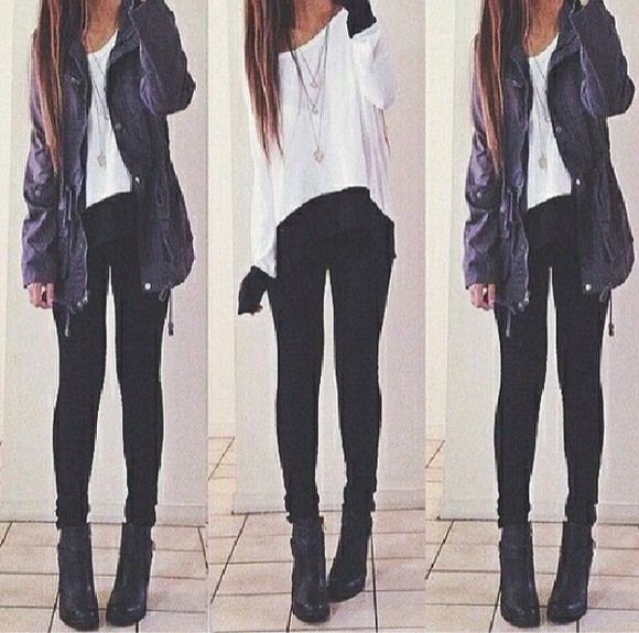one shoulder white style fashion tumblr outfit top jacket navy