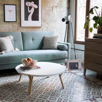 home accessory tumblr home decor furniture home furniture living room blue light blue lamp table rug pillow