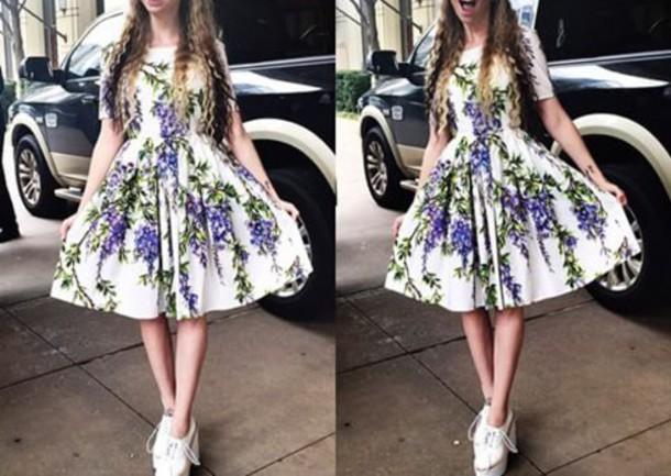 dress lavender dress floral dress