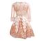 Lace stitching gauze sequins dress