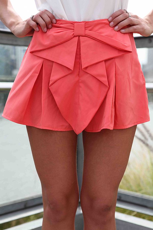 BOW SHORTS , DRESSES, TOPS, BOTTOMS, JACKETS & JUMPERS, ACCESSORIES, 50% OFF , PRE ORDER, NEW ARRIVALS, PLAYSUIT, COLOUR, GIFT VOUCHER,,SHORTS,Pink,MINI Australia, Queensland, Brisbane