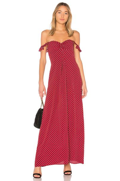 FLYNN SKYE dress maxi dress maxi red