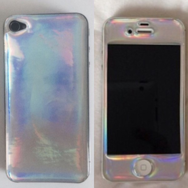phone cover holographic rainbow