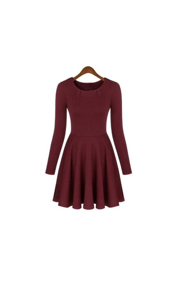 dress red dress semi formal long sleeve dress