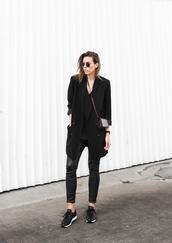 modern legacy,blogger,leggings,blazer,boyish,androgynous