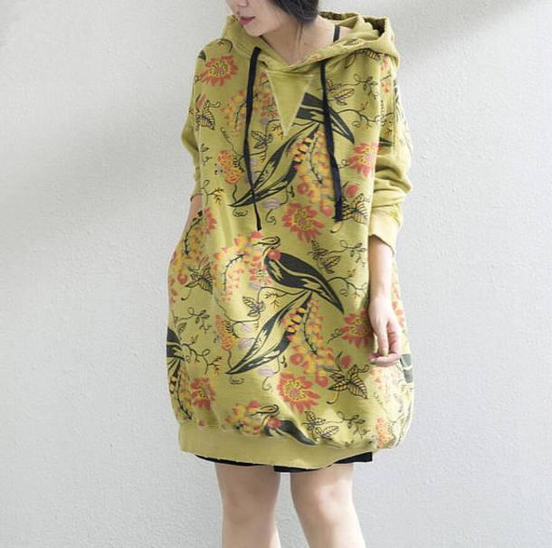 dress loose yellow dress