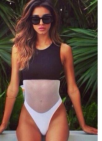 swimwear black swimwear white swimwear one piece swimsuit