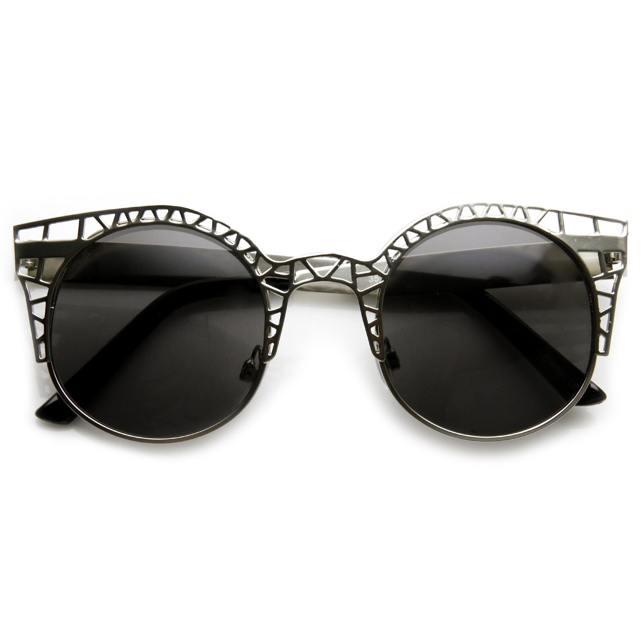 Womens Indie Fashion Round Cat Eye 9432