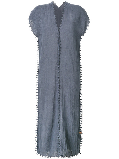 Caravana dress midi dress women midi cotton blue