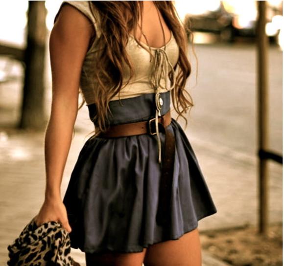 skirt high waisted skirt buttons
