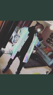jacket,holographic,nike,adidas,cool,futuristic