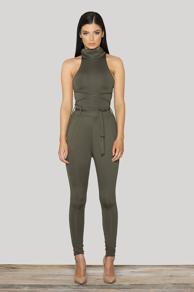Multiple tight show body jumpsuit
