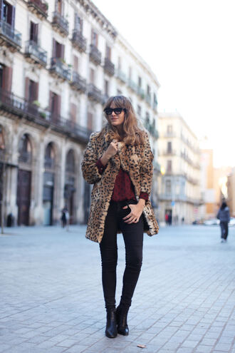 my daily style blogger coat faux fur 70s style