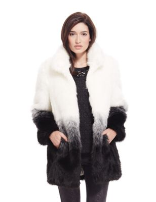 Faux Fur Ombre Effect Coat | M&S