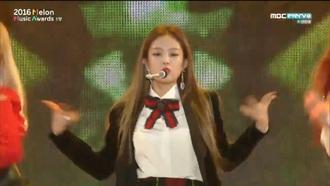 shirt blackpink cute top blouse k-pop kpop lolita white white top white t-shirt bow t-shirt music fashion chrismas winter outfits