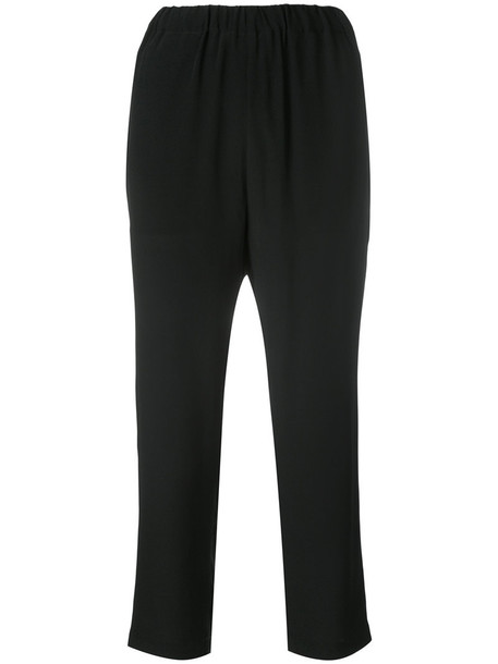 MARNI women drawstring black silk pants
