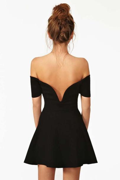 Dress: black, summer, little black dress, open back ...
