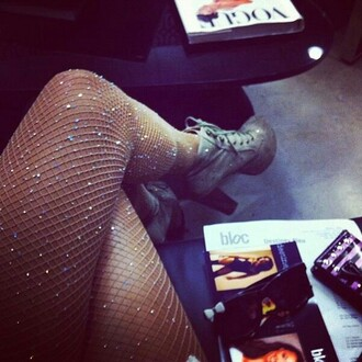 leggings sparkly leggings fishnet material