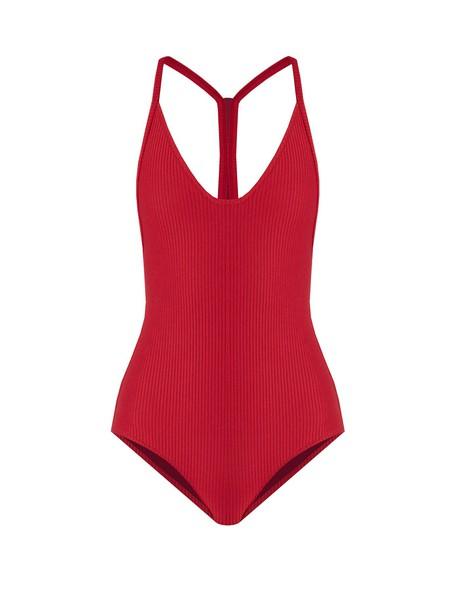 Made By Dawn dark pink swimwear