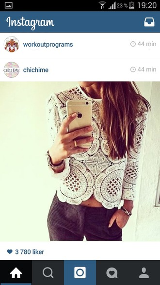 top lace top iphone case pants white top
