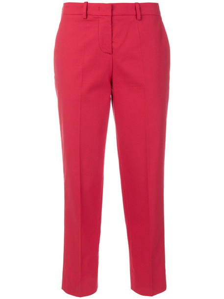 LOVE MOSCHINO women classic spandex cotton red pants