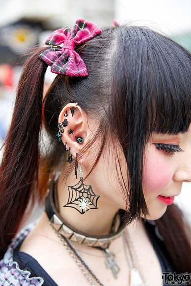 jewels piercing harajuku harajuku fashion ear piercings Gothic Jewelry