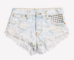 Malibu Studded Clouded Babe Shorts | RUNWAYDREAMZ
