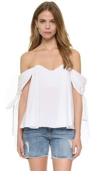 top bustier bustier top white