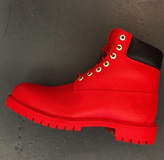 shoes timberland red fashion