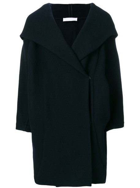 coat women blue wool