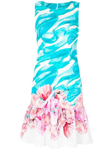 dress women spandex cotton blue