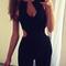 Cut-out sleeveless jumpsuit|disheefashion