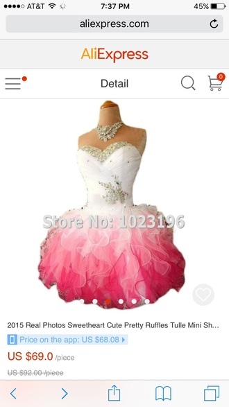 dress pink dress pink corset top puffy dress