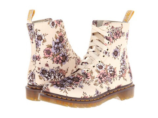 shoes DrMartens DrMartens flowers woah boots canvas