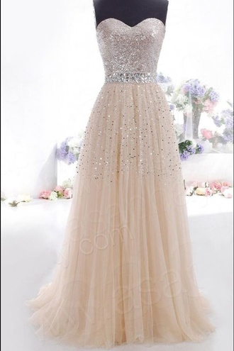 dress prom dress peach glitter long prom dress glitter belt awsome white cream sparkles shimmer shine strapless sweetheart full length gorgeous fab ploys debs prom white glitter belt dimontes float flowy chiffon sparkly