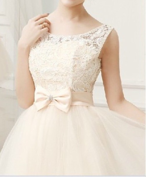 dress lace bow dressses cute dress