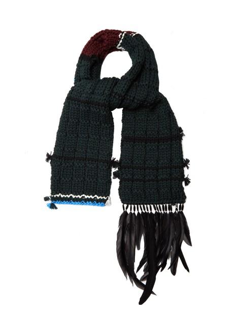 Prada scarf wool green
