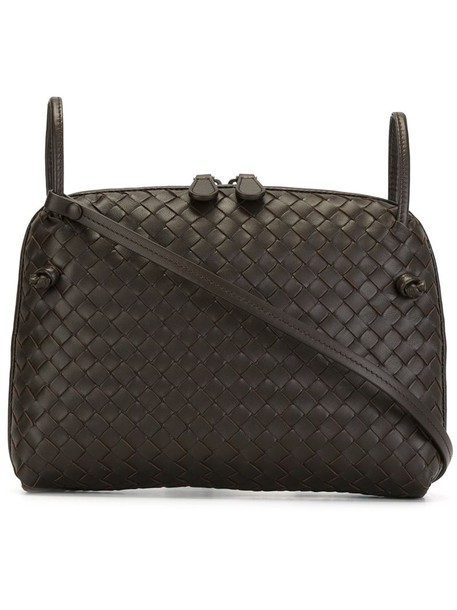 Bottega Veneta cross women bag leather brown