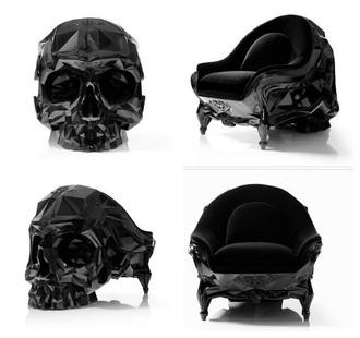 home accessory skull chair black chair skull