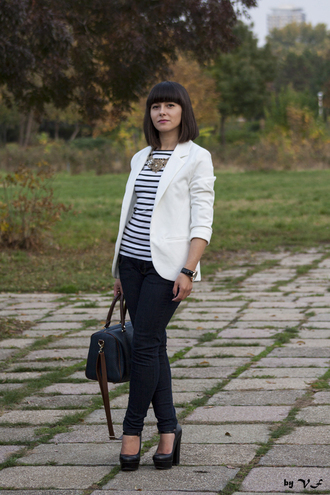 jacket white blazer clothes white blazer persunmall