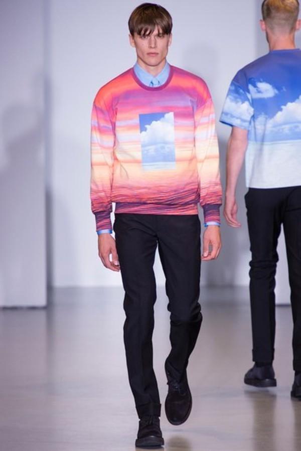 sweater sky sweatshirt look fashion show brand galaxy print vintage prut full print