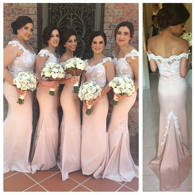 Aliexpress.com : buy 2015 new arrival custom made floor length pink long chiffon mermaid bridesmaid dresses appliques sexy wedding party dresses from reliable dress wool suppliers on suzhou babyonline dress store