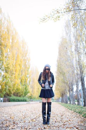 fashion toast hat sweater jacket skirt shoes