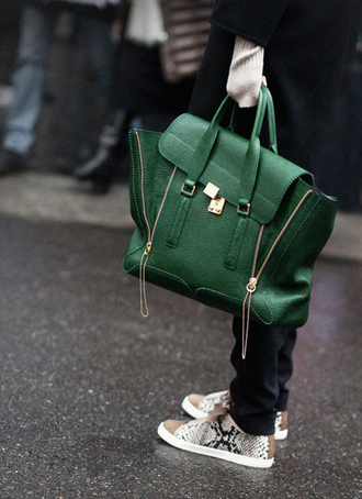 satchel leather green sneakers green bag bag