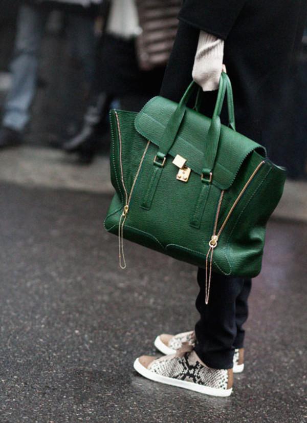 satchel leather green sneakers green bag bag