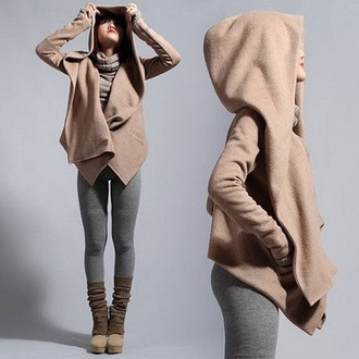 coat hoodie beige winter outfits casual rose wholesale denim trendy urban streetwear