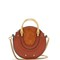 Pixie mini leather and suede cross-body bag