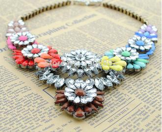 jewels women rainbow jewels women necklace female necklace