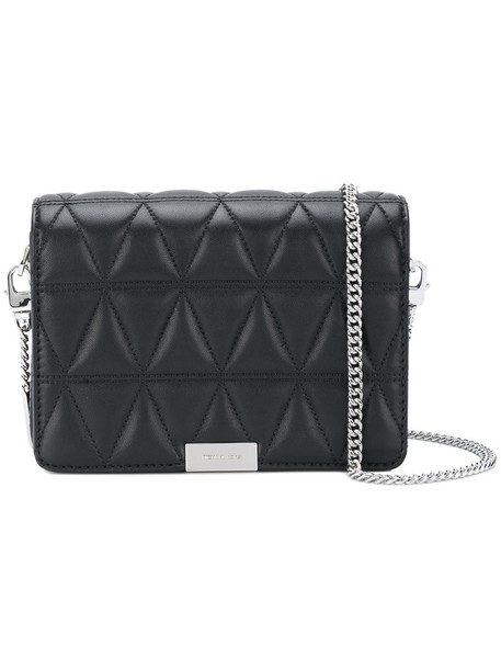 MICHAEL Michael Kors triangle women quilted handbag leather black bag