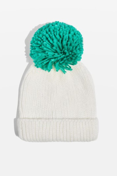Topshop hat knit green